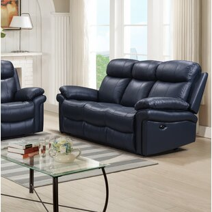 Blue Leather Sofas You\'ll Love | Wayfair.ca