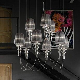 Gadora Chic 9-Light Cluster Pendant by Evi Style