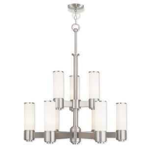 Brayden Studio Kramer 9-Light Shaded Chandelier