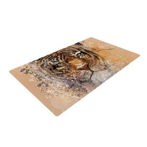 Geordanna Cordero-Fields My Tiger Orange/Tan Area Rug