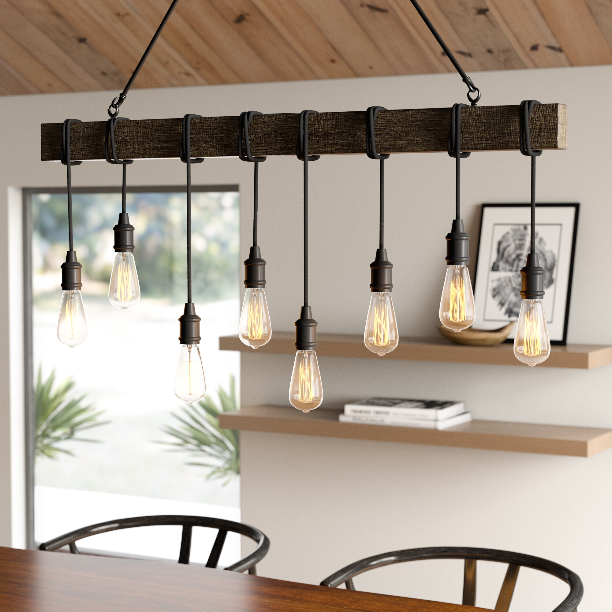 Light Kitchen Island Bulb Pendant With
