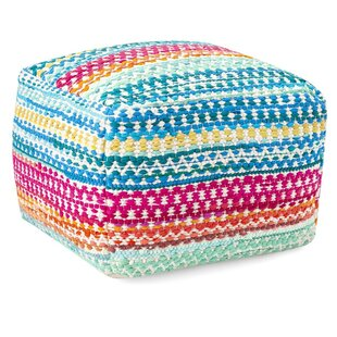 Mccue Handwoven Pouf by Bungalow Rose
