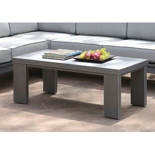 Purchase Sagers Contemporary Aluminium Coffee Table Inexpensive