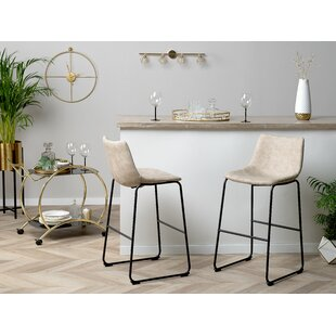 Kim Fabric 27.2 Bar Stool (Set of 2) by 17 Stories