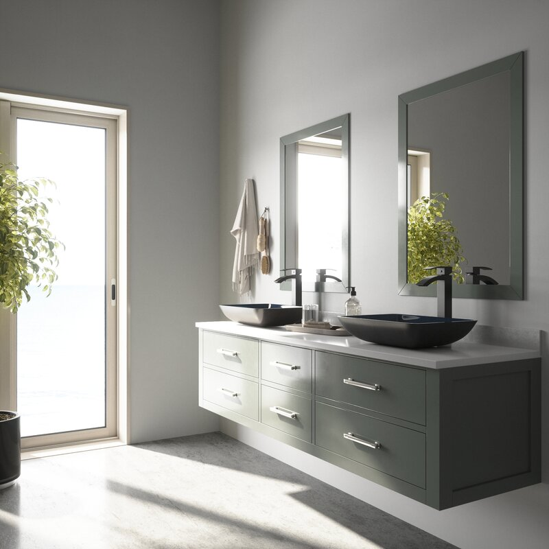 Gl Rectangular Vessel Bathroom