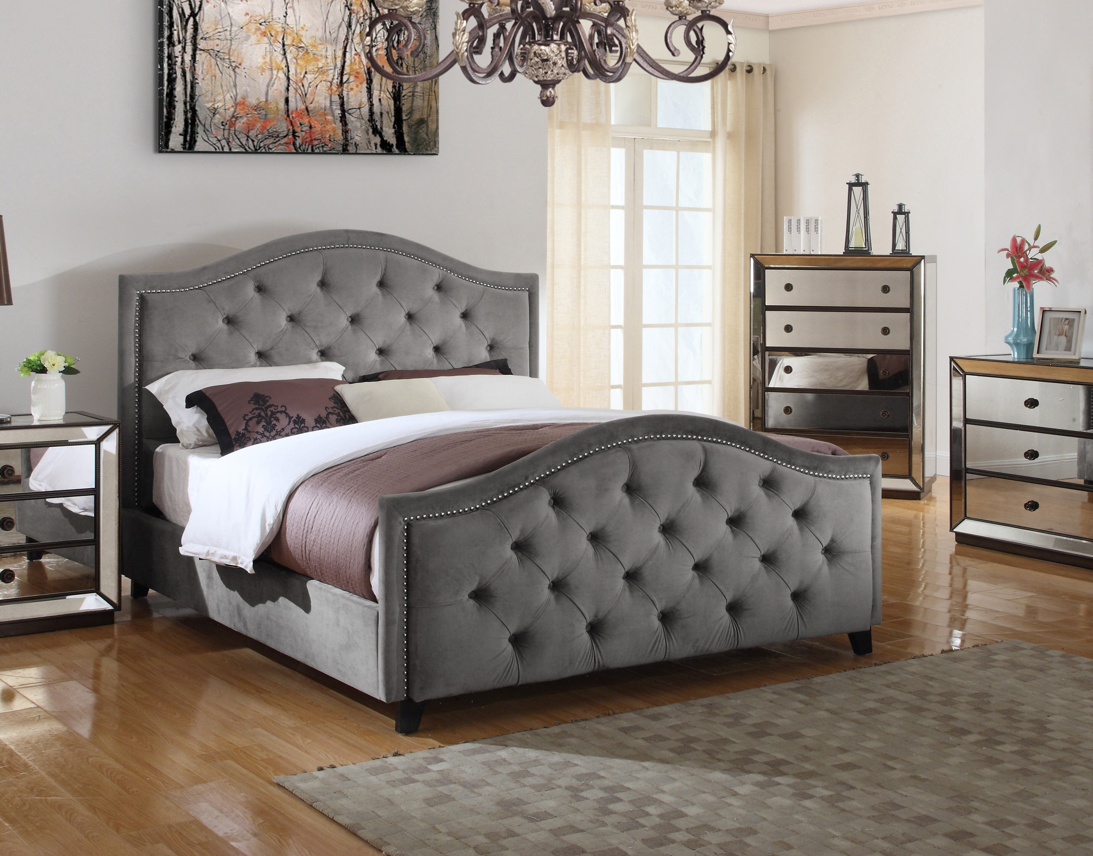 Canora Grey Lilly Upholstered Platform Bed Reviews Wayfair