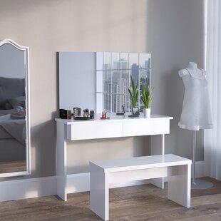 Bongiorno Dressing Table With Mirror By Brayden Studio