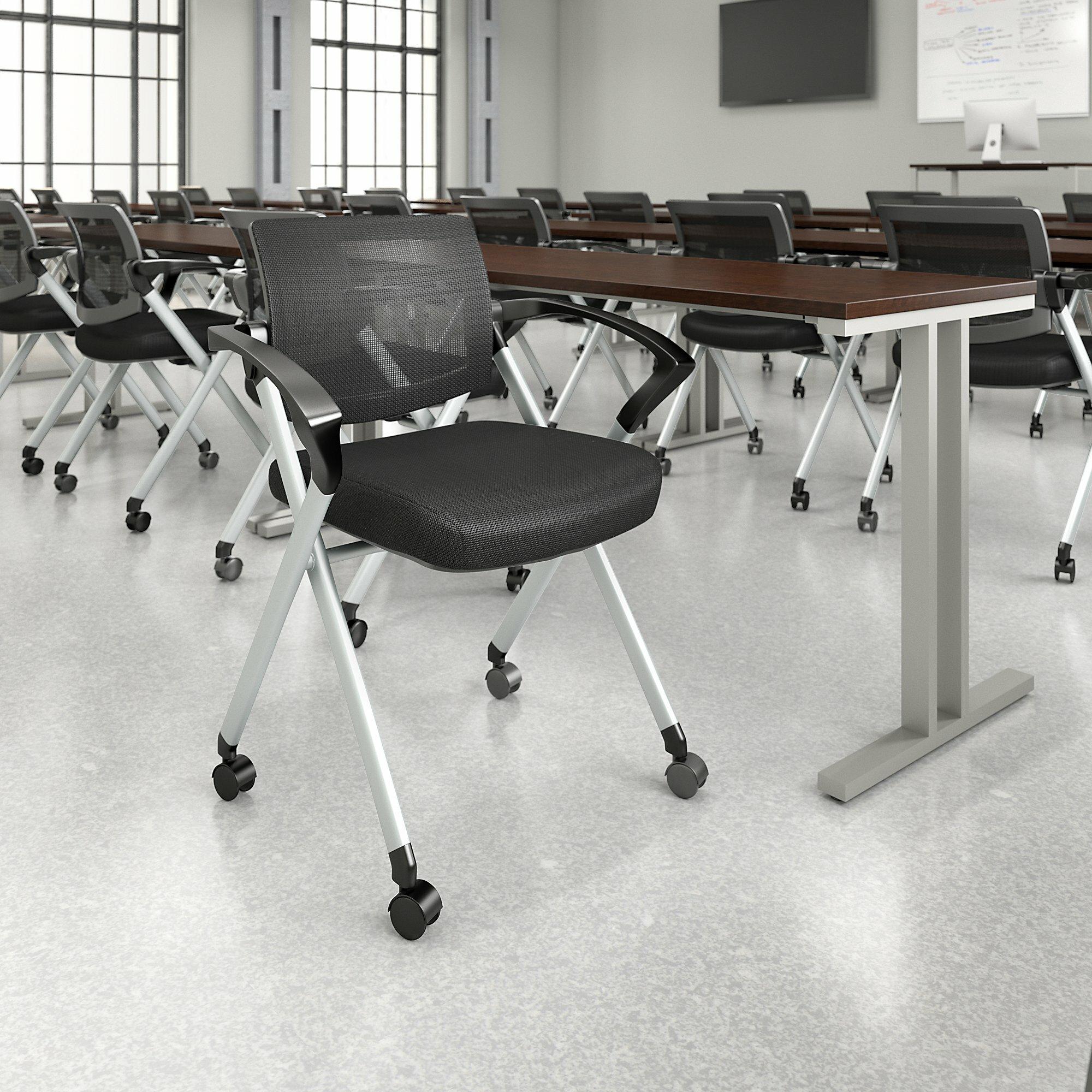 Image of: Bush Business Furniture Corporate Mesh Back Fabric Padded Folding Chair Wayfair