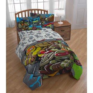 Nickelodeon Teenage Mutant Ninja Turtles Cross Hatching Twin 3 Piece Sheet Set By Shopkins