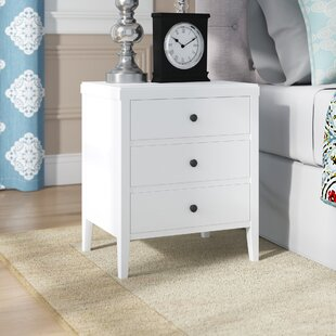 Rushville 3 - Drawer Solid Wood Nightstand