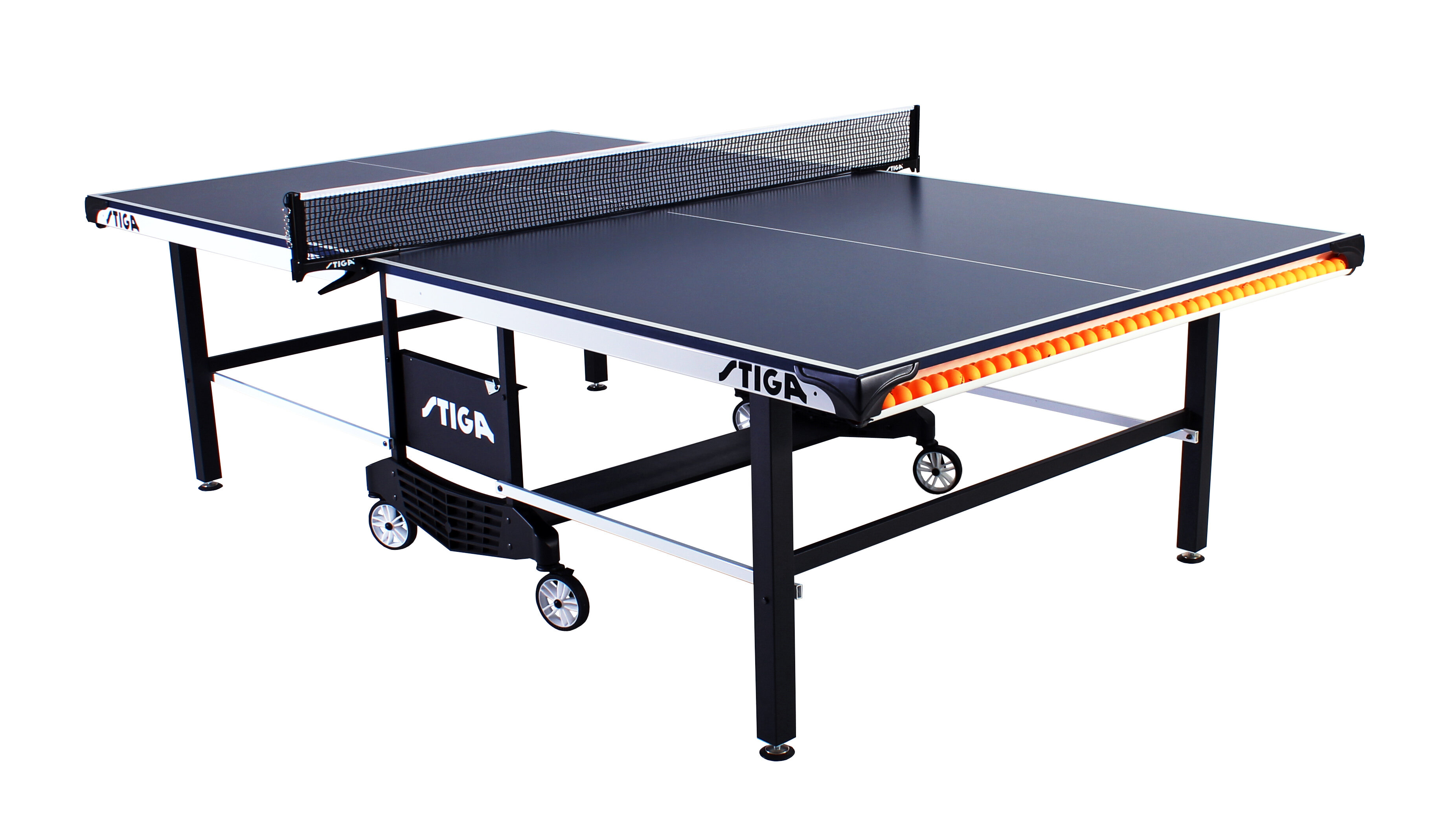 Stiga Sts 385 Regulation Size Foldable Indoor Table Tennis Table 19mm Thick Reviews Wayfair