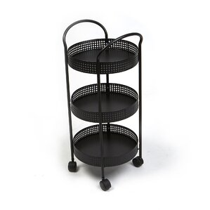 3 Tier Round Trolley for Serving and Holding Ingredients Kitchen Cart by Rebrilliant