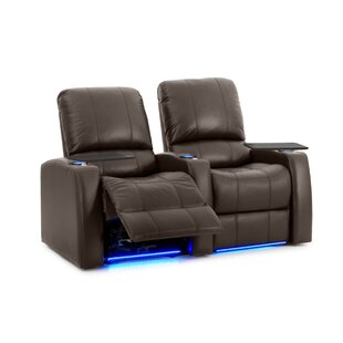 Leather Home Theater Row Seating (Row Of 2) by Latitude Run Herry Up