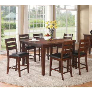 Kaneshiro 7 Piece Counter Height Dining Set by Alcott Hill