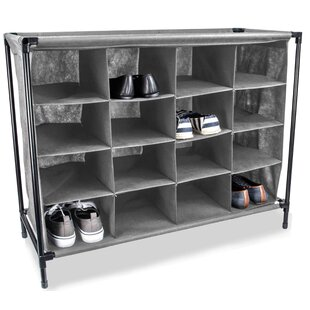 Best Price 16-Compartment 16 Pair Shoe Rack By Sunbeam