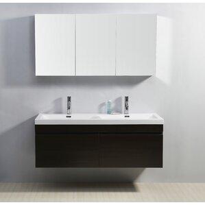 double bathroom sink. Cartagena Modern 55  Double Bathroom Vanity Set with White Top Vanities AllModern