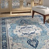 Lillo Blue/Navy Area Rug byBungalow Rose