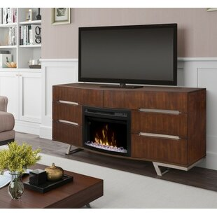 Valentina TV Stand for TVs up to 70 with Fireplace by Dimplex