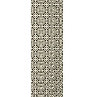 Rudy Elegant Cross Design Black/White Indoor/Outdoor Area Rug
