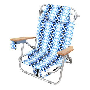 Bungalow Rose St. Augustine Reclining Beach Chair with Cushion