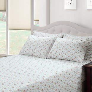 Ditsy Floral Jenna 300 Thread Count Cotton 3 Piece Sheet Set