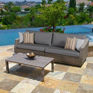 Wade Logan Castelli 2 Piece Sofa Set with Cushions