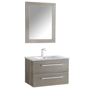 Affordable Price Engram 30 Single Bathroom Vanity Set with Mirror By Orren Ellis