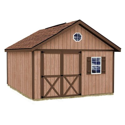 Brandon 12 ft. W Solid Wood Storage Shed Best Barns Size: 114 H x 144 W x 192 D