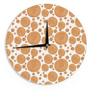 Alisa Drukman 'Gold Pattern' 12 Wall Clock by East Urban Home