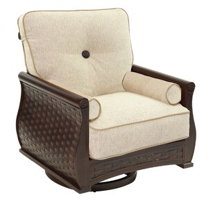 French Quarter Lounge Swivel Rocking Chair with Cushion by Leona