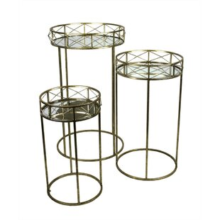 Kalb Appealing and Flashy Metal 3 Piece Nesting Tables by Mercer41
