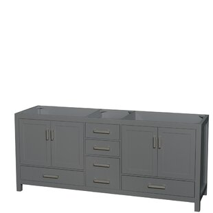 Find Sheffield 80 Double Bathroom Vanity Base Only By Wyndham Collection