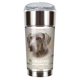 Howard Robinson's Weimaraner 24 oz. Stainless Steel Travel Tumbler