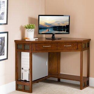 Jablonski Slate Tile Corner Computer Desk by Charlton Home
