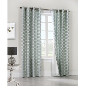 dartmoor geometric semisheer grommet curtain panels