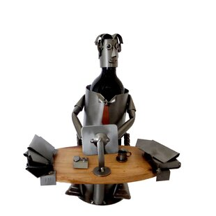 Executive 1 Bottle Tabletop Wine Rack by H & K SCULPTURES