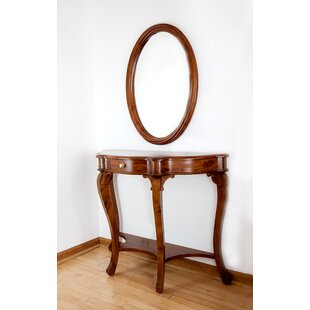 Twisted String Console Table and Mirror Set