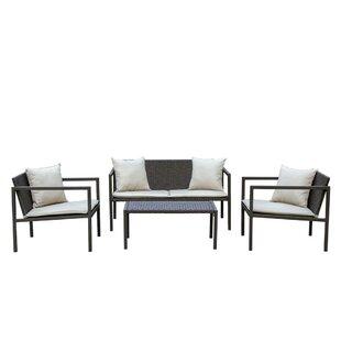 Bourne 4 Piece Sofa Set With Cushions