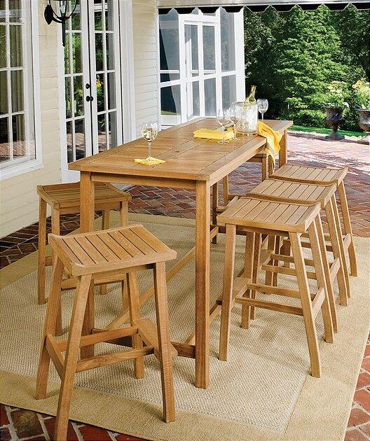 Oxford Garden Dartmoor Long Bar Table Reviews Wayfair