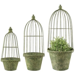 Ellent 3 Piece Metal Wall Planter Set By Brambly Cottage