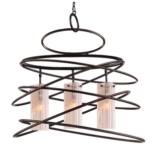 Loop 3-Light Geometric Chandelier by Woodbridge Lighting