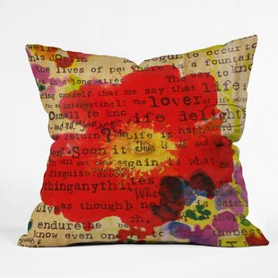 Poppy Poetry Pillow