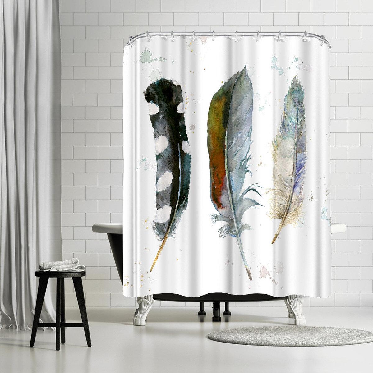 East Urban Home Harrison Ripley Feathers Shower Curtain