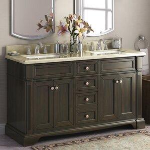 Palazzo 60-Inch Double Bathroom Vanity cottage & country bathroom vanities you'll love | wayfair