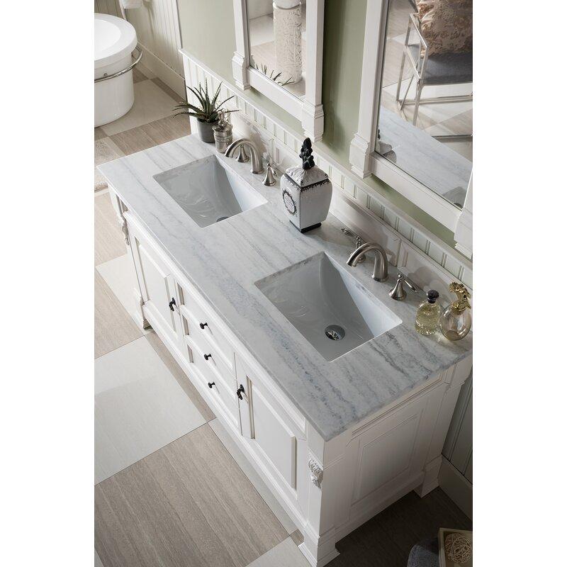 James Martin Furniture Brookfield 60 Double Bathroom Vanity Set Wayfair