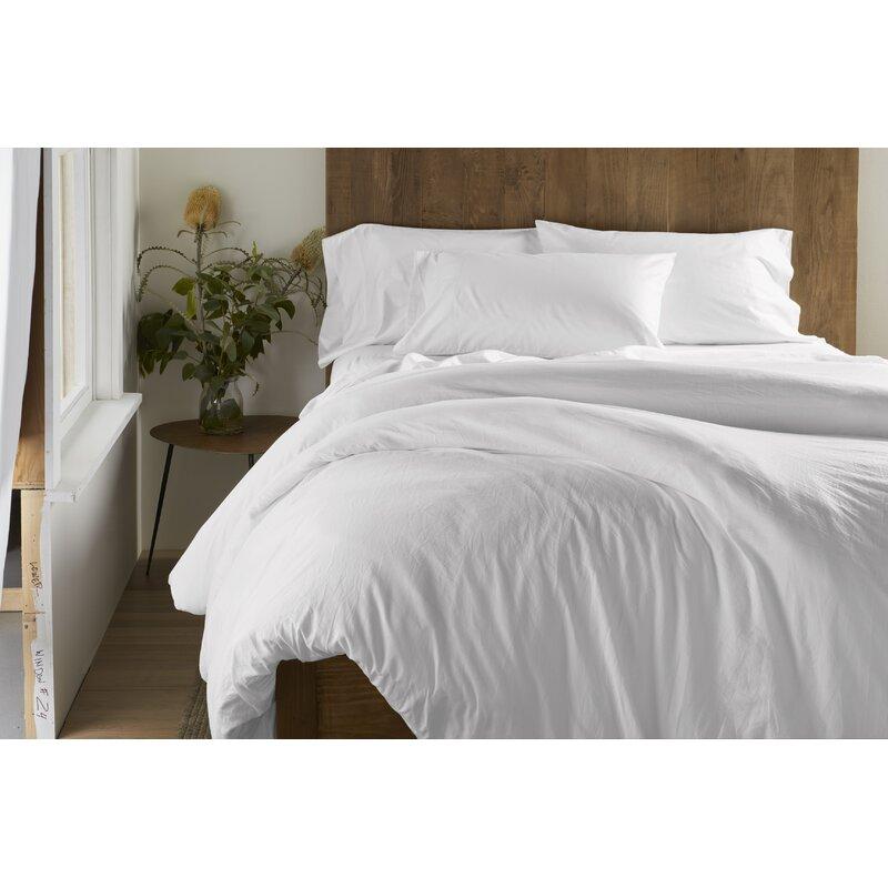 Grey Single Wayfair Basics 250 Tc Sateen Stripe Duvet Cover Set