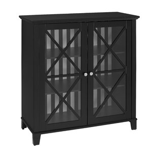 Bridwell Stripe 2 Door Accent Cabinet by Alcott Hill