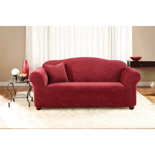 Sure Fit Stretch Pique Box Cushion Sofa Slipcover