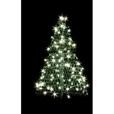 Crab Pot Christmas Trees Crab Pot Christmas Tree® with 160 LED Mini Lights Wire Colour: Green
