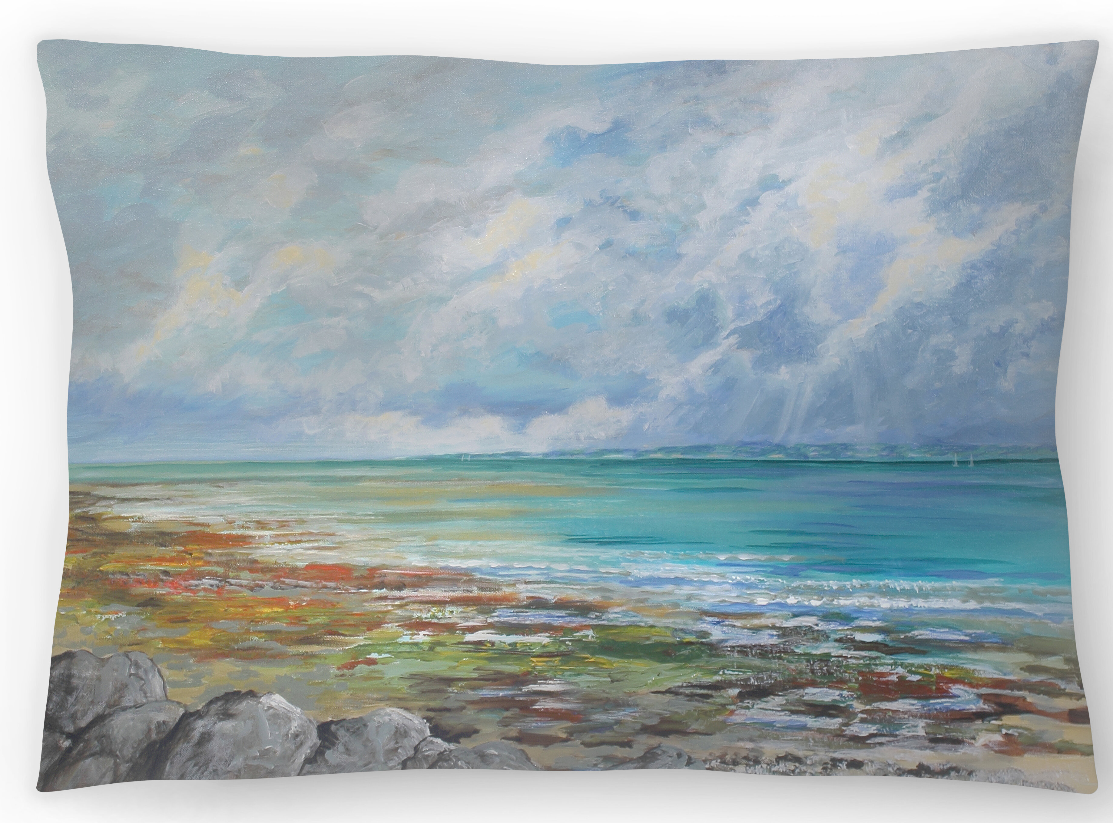 Beach Colors Lumbar Pillow